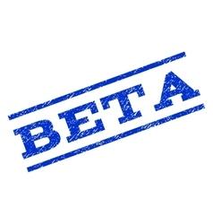 Beta Watermark Stamp vector image vector image
