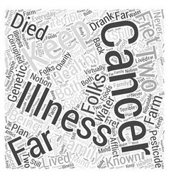 Cancer charity word cloud concept vector