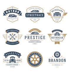 Car logos templates design elements set vector