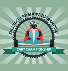 Cart championship banner in flat design vector