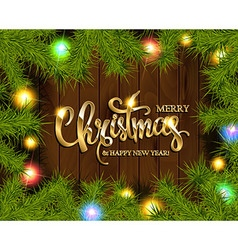 Christmas Tree Branches Border vector image