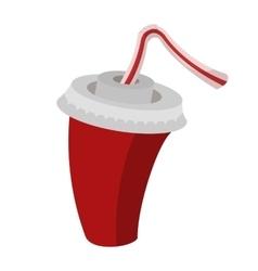 Cola or soda cartoon sign vector