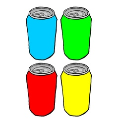 Color cans vector