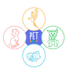 concept of a pet shop i vector image