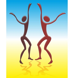 dancing men vector image vector image
