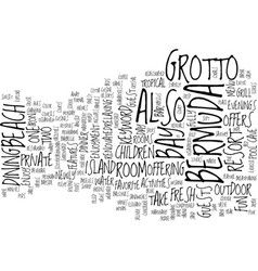 Grotto bay bermuda text background word cloud vector