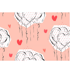 hand made abstract greeting valentines day vector image