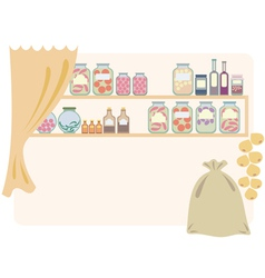 Home pantry for food vector