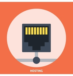 Hosting icon vector