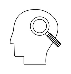 Human head search discovery outline vector