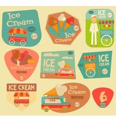 Ice Cream Stickers vector image