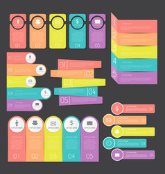 Infographic templates collection set for business vector