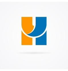 Letter h logo for design template elements vector