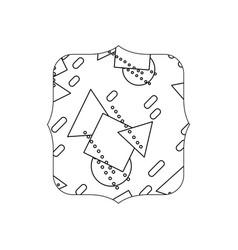Line quadrate with memphis geometric style vector