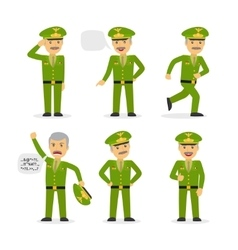 Military general character vector image