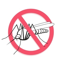 Mosquito prohibited sign related sanitation vector