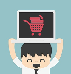 On line store on line shop internet shopping eleme vector
