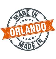 Orlando orange grunge ribbon stamp on white vector