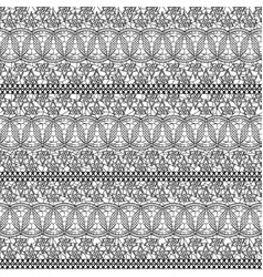Seamless lacy texture black lace small flowers on vector