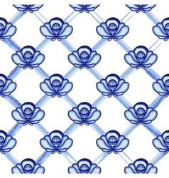 Seamless pattern in style gzhel a lattice from vector