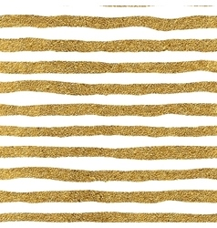 Seamless pattern of gold lines vector image vector image