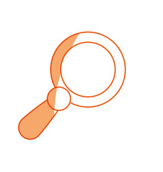 Silhouette magnifying glass icon design vector