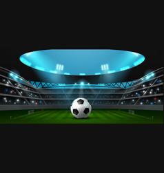 soccer football stadium spotlight vector image vector image