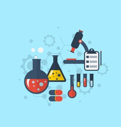 template for showing various tests being conducted vector image vector image