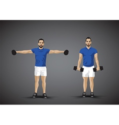 training fly weights vector image vector image
