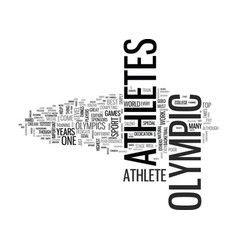 What makes an olympic athlete text word cloud vector