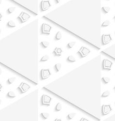 White triangular seamless pattern vector image vector image
