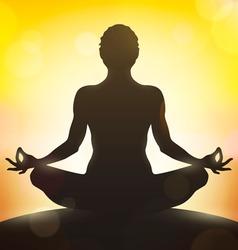 Yoga pose vector image