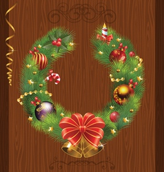 Door decorations for the holidays vector