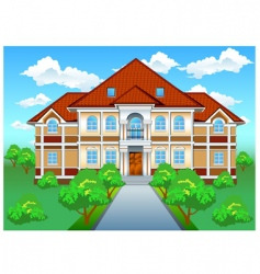 private residence on hill vector image