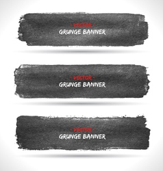 Grunge banners set vector