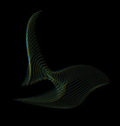 warped parametric surface shape vector image