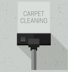 carpet cleaning with vacuum cleaner vector image
