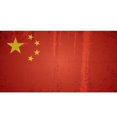 Grunge flags - china vector