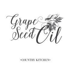 Grape seed oil vector