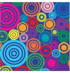 Retro circles background vector