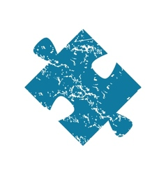 Puzzle piece grunge icon vector