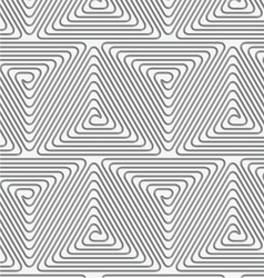 Perforated triangle connected spirals vector