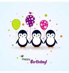 Template birthday greeting card scrap vector image