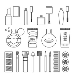 Make up and cosmetics set vector