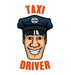 Taxi driver in uniform peaked cap vector
