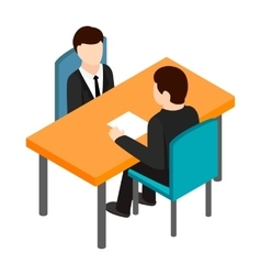 Job interview icon isometric 3d style vector