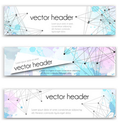 Set of technology banners template or vector