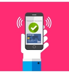 Mobile Payment Flat Concept vector image