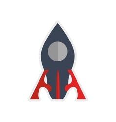 Rocket icon Science design graphic vector image