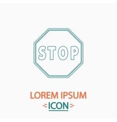 Stop sign icon computer symbol vector